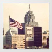 detroit Canvas Prints featuring Detroit  by UniversalLove