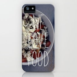 We love Food iPhone Case