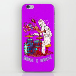 Drumming is therapeutic iPhone Skin