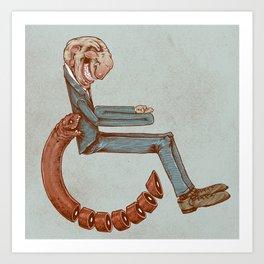 Wheelchair Art Print