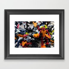 after the battle Framed Art Print