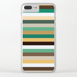 Pastel Stripes II Clear iPhone Case