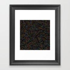 Ab Linear Rainbow Black Framed Art Print