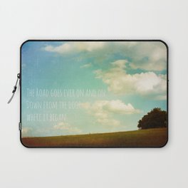 the road goes ever on Laptop Sleeve