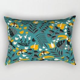 Tropical Toucan Pattern Rectangular Pillow
