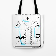 How to fold your shirt Tote Bag
