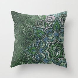 N51 - Antique Boho Traditional Moroccan Style 2020 Trending Green Color. Throw Pillow
