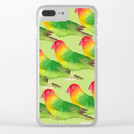 Agapornis Clear iPhone Case