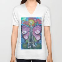 wiz khalifa V-neck T-shirts featuring Burj Khalifa transformation  by sladja