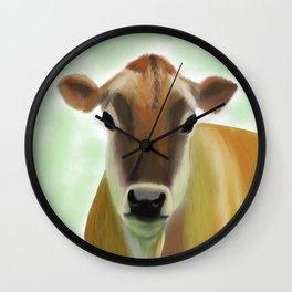 The Pretty Jersey Cow Portrait Wall Clock