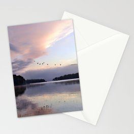 Uplifting: Geese Rise at Dawn on Lake George Stationery Cards