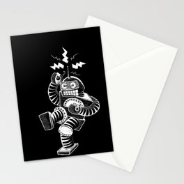 ELECTRIC! (Air-Guitaring Robot) Stationery Cards