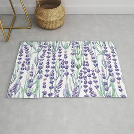 Watercolor Lavnder Rug