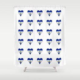 Flag of salvador 5 - salvador,Salvadoran,San Salvador,salvadoreño,Guanaco. Shower Curtain