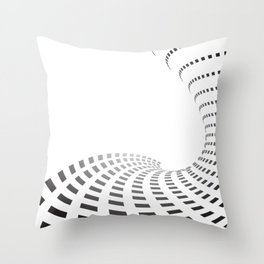 BLACK SQUARES Abstract Art Throw Pillow