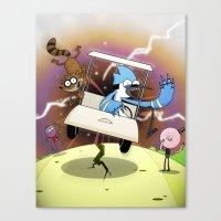 regular show Canvas Prints featuring Regular Show Vortex by Geoff Munn