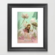 Goblins Drool, Fairies Rule! - Dewdrop Shower Framed Art Print