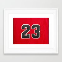 chicago bulls Framed Art Prints featuring Michael 23 Jordan Chicago Bulls by Rorzzer