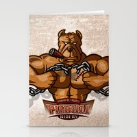 pitbull Stationery Cards featuring PITBULL RIDERS by gtrullas