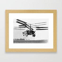 Helicopter Invention Framed Art Print