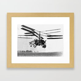 Helicopter Invention Framed Art Print