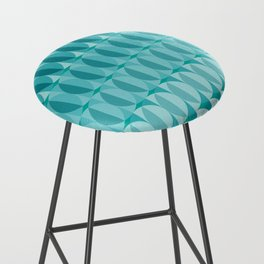 Leaves in the moonlight - a pattern in teal Bar Stool