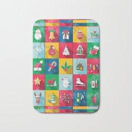 Christmas Calender by Nico Bielow Bath Mat