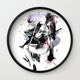 Shibari - Japanese BDSM Art Painting #12 Wall Clock