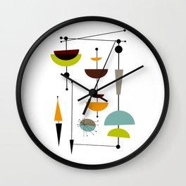 Mid Century 14 Wall Clock