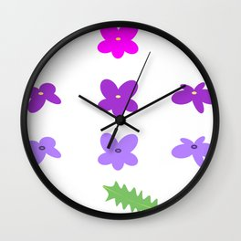 Lavender flowers Wall Clock