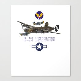 USAAF B-24 Liberator WW2 Bomber Airplane Pullover Hoodie Canvas Print