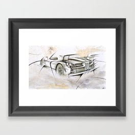 Cardesign Sketch Artwork Framed Art Print