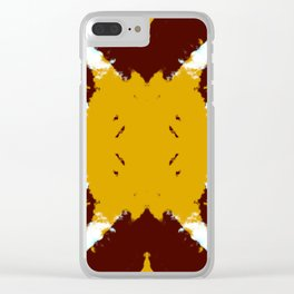 Takashi - Abstract Multicolor Rorschach Butterfly Clear iPhone Case