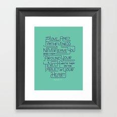 2/52: Proverbs 3:3 print Framed Art Print