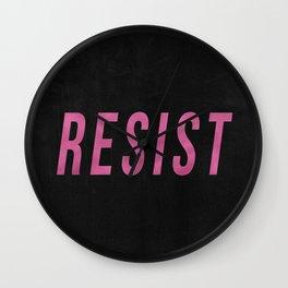 RESIST 3.0 - Pink on Black #resistance Wall Clock