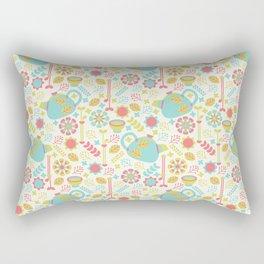 Green Tea Pattern Rectangular Pillow
