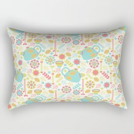 Green Tea Pattern Rectangular Pillow