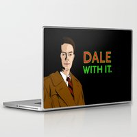 dale cooper Laptop & iPad Skins featuring DALE WITH IT. by Chris Piascik
