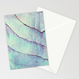 IRIDISCENT SEASHELL MINT by Monika Strigel Stationery Cards