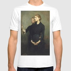 Abbott H. Thayer - The Sisters, 1884 White MEDIUM Mens Fitted Tee