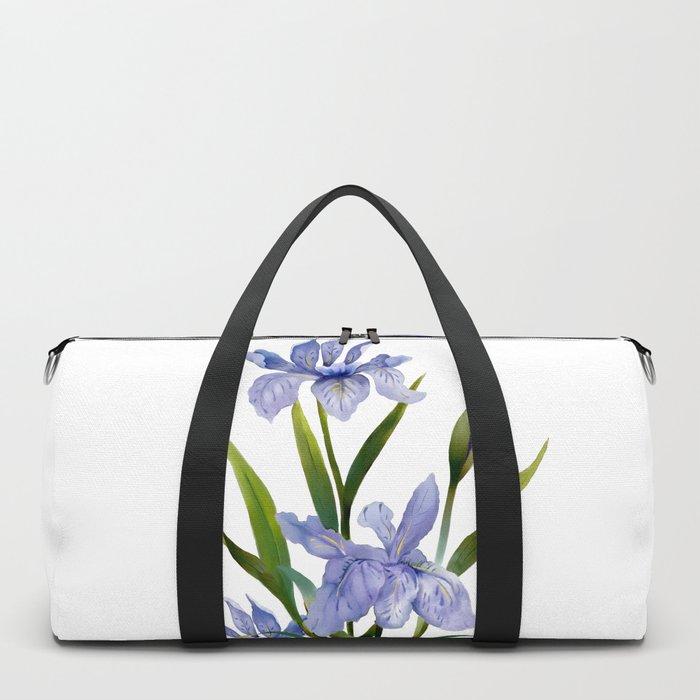 Purple Iris Duffle Bag