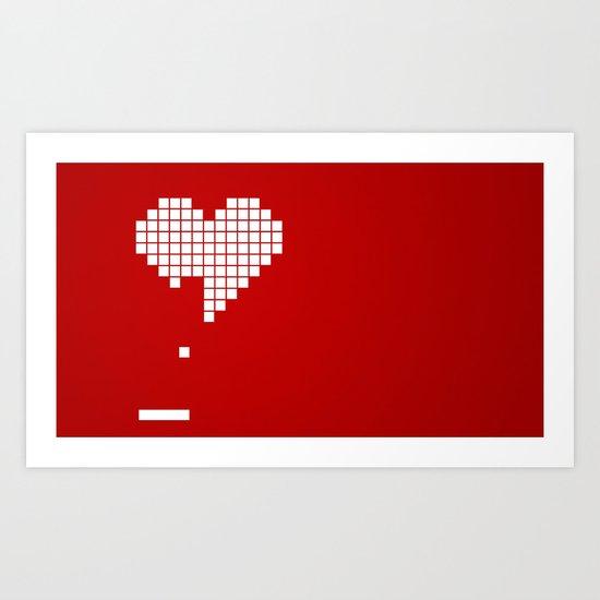 Arknoid Heart Art Print