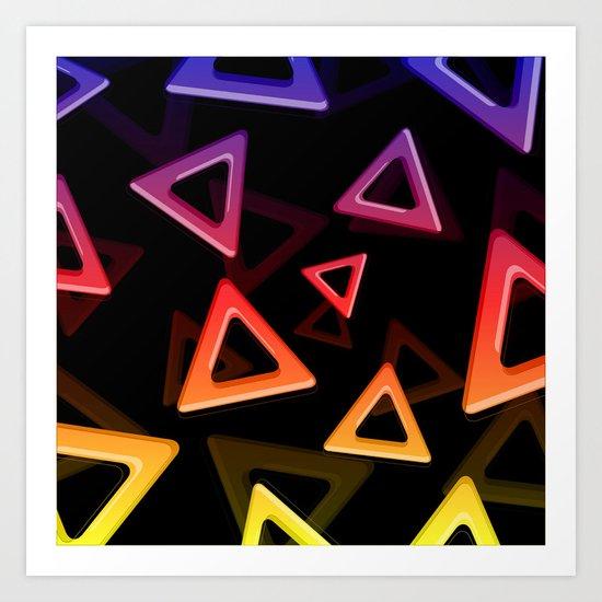 80's Triangles Art Print