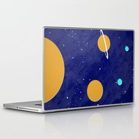 solar system Laptop & iPad Skins featuring Solar System by Quinn Shipton