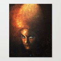 afro Canvas Prints featuring AFRO by John Aslarona