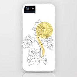 Monstera line Art iPhone Case