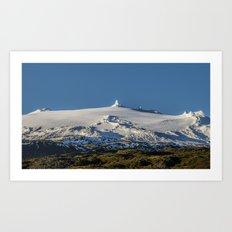 Snaefellsjokull volcano 3 Iceland Art Print