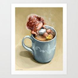 I love coffee Art Print