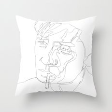 smoking man Throw Pillow