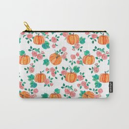 Pumpkins and Roses Carry-All Pouch